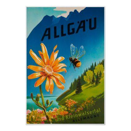 #Allgau Bavaria Germany Travel Poster - #travel #art
