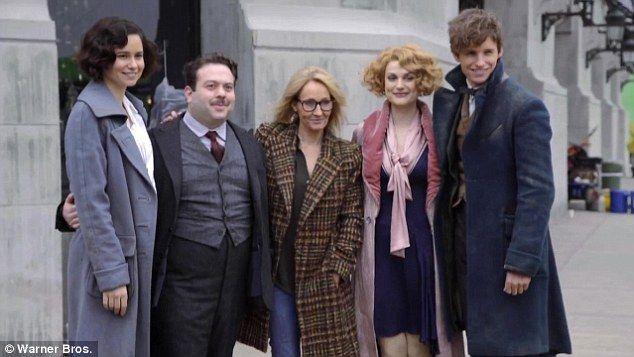 A new set of heroes: Eddie Redmayne, Katherine Waterston, Dan Fogler, J.K. Rowling, Alison...