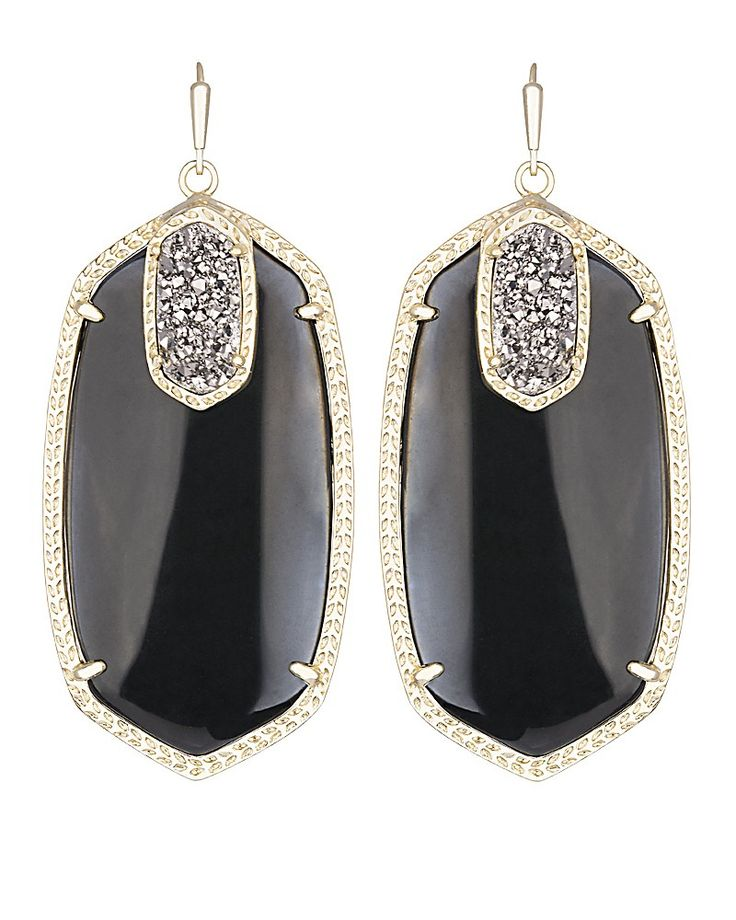 Darcy Statement Earrings in Black Galaxy - Kendra Scott Jewelry. Coming October 15!