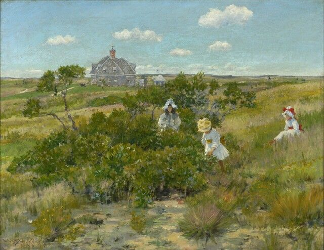 """""""The Big Bayberry Bush"""", William Merritt Chase, ca. 1895."""