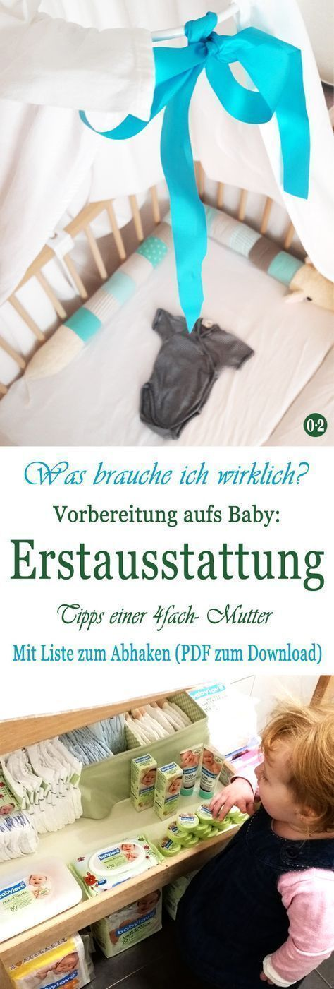 Immer wieder wurde ich gefragt, was ich als 4fach- Mutter denn als Erstausstattung empfehlen würde. Einfach ausdrucken, durchstreichen oder abhaken :)