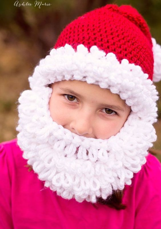 60cb9b338 FREE Crochet Pattern - Double Loop Bearded Santa Hat in all sizes ...