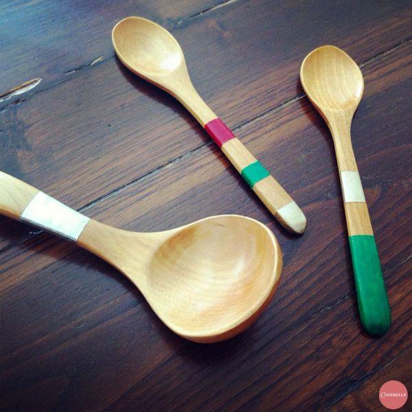 Diy - I cucchiai decorati per la zuppa di Natale