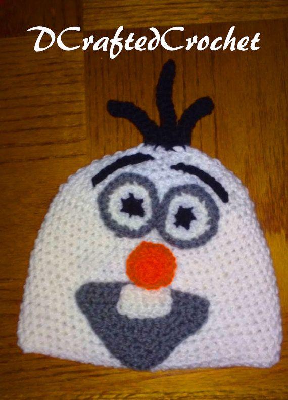 Crochet Olaf Hat by DCraftedCrochet on Etsy