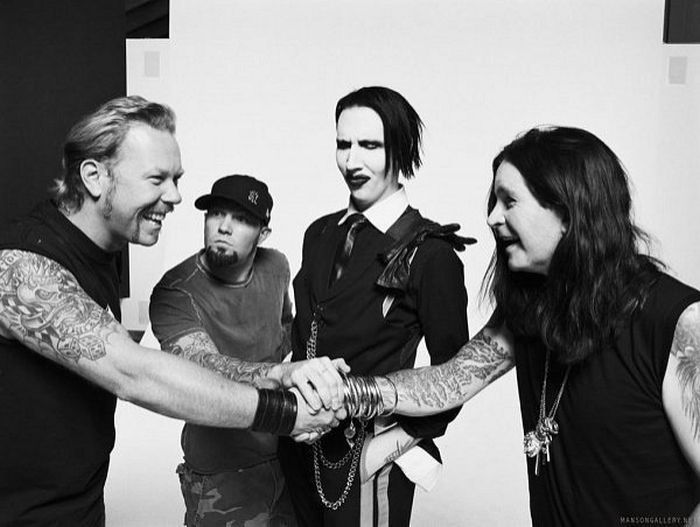 James Hetfield, Fred Durst, Marilyn Manson, Ozzy Osbourne....not sure how Fred Durst fits in here....but, whatever.