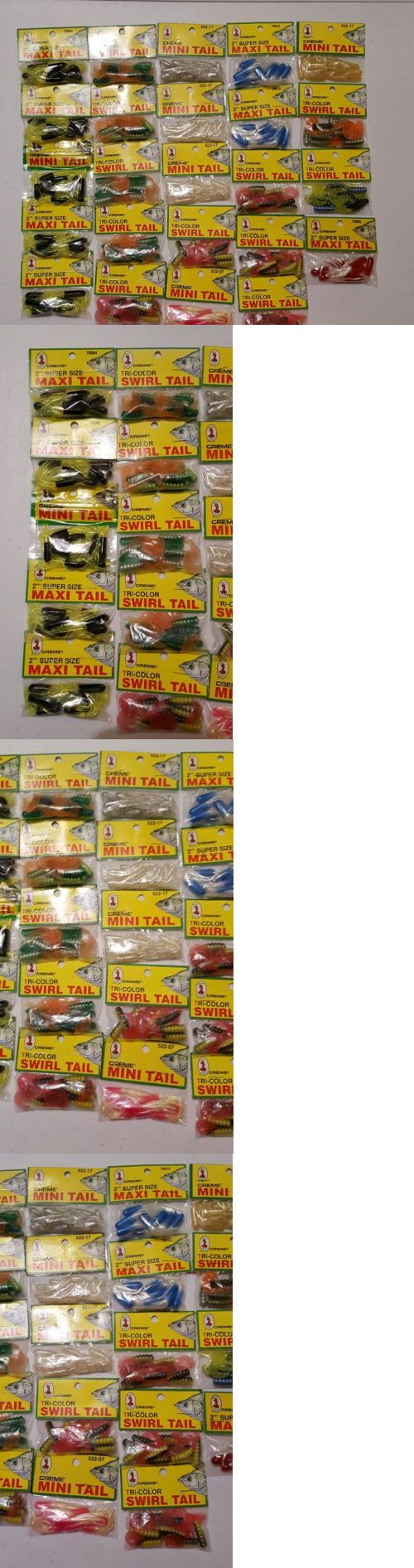 Soft Plastics 31691: Huge Creme Maxi Tail Swirl Tail Mini Tail Lure Lot Crappie 24 Packages -> BUY IT NOW ONLY: $30 on eBay!