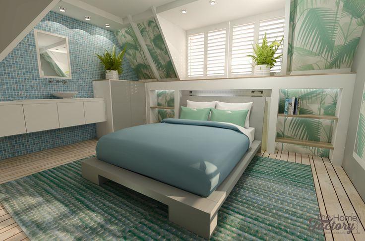 Ontwerp & visualisatie Caribische slaapkamer.