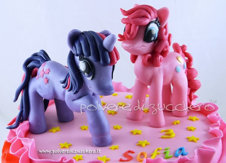 torta compleanno my little pony: twilight sparkle & pinkie pie my little pony cake