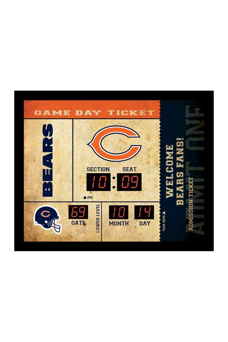 Chicago Bears Bluetooth Scoreboard Wall Clock