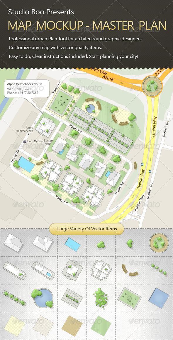 Map Mock Up Map Graphic Design Templates Print Mockup