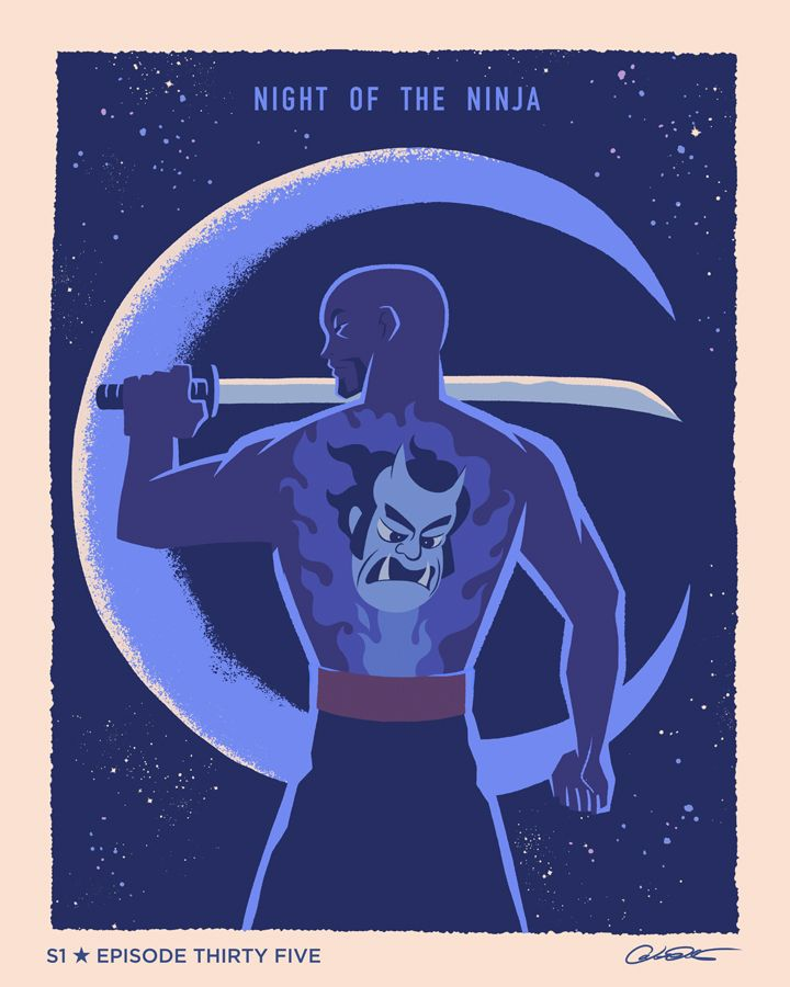 "Batman The Animated Series Episode 35 ""NIght of the Ninja"" - George Caltsoudas"