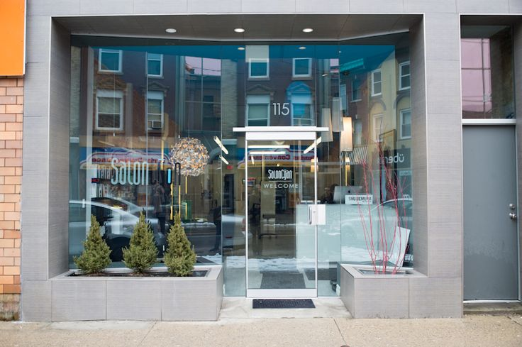 17 best images about building facade storefront on for Beauty salon exterior design
