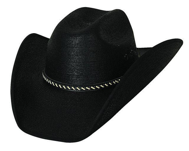 Bullhide Cowboy Strong 30X Mexican Palm Leaf Straw Black Cowboy Hat 2702