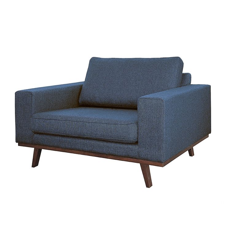 Fauteuil Billund - Tissu structuré - Bleu jean