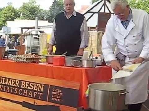 Donaufest - ULM /Neu- Ulm - Ukážka výroby Käsespätzle