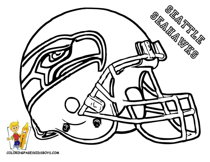 Coloring page | Seahawks! | Pinterest | Football, Coloring ...