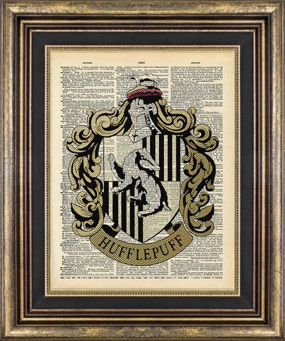 Harry Potter HUFFLEPUFF house Print Vintage by PageRager on Etsy