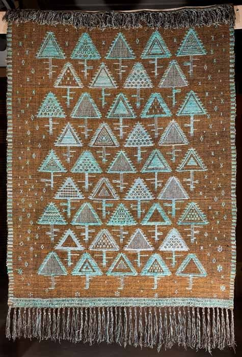 Eleonora Plutyńska, Turquoise Triangles, double-warp textile, 1960Collections of the Central Textiles Museum in Łódź, Photo: Michał Korta - photo 7