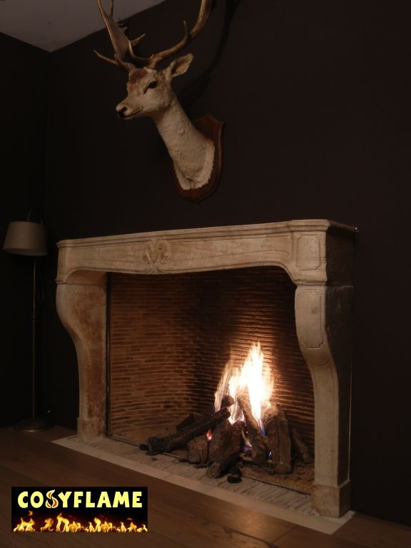 Cosy flame gas fires built-in inserts and fireplace surrounds: modern or classic, frameless closed combustion