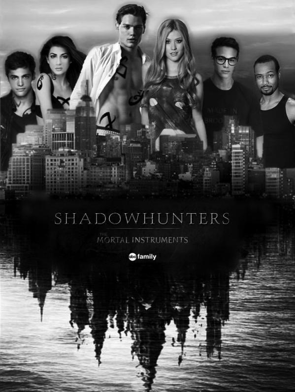 This is the Shadowhunters tv show cast Dominic Sherwood=Jace Herondale Kat McNamara=Clary Fairchild Emeraude Toubia=Isabelle Lightwood Matthew Daddario=Alec Lightwood Isaiah Mustafa=Luke Graymark