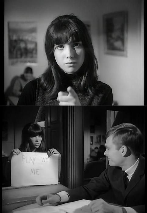 """Janet Margolin & Keir Dullea in David and Lisa (1962, dir. Frank Perry), an early example of independent American cinema. You might also recognize Janet Margolin in the film, """"Annie Hall,"""" as Woody Allen's character's intellectual ex-wife."""