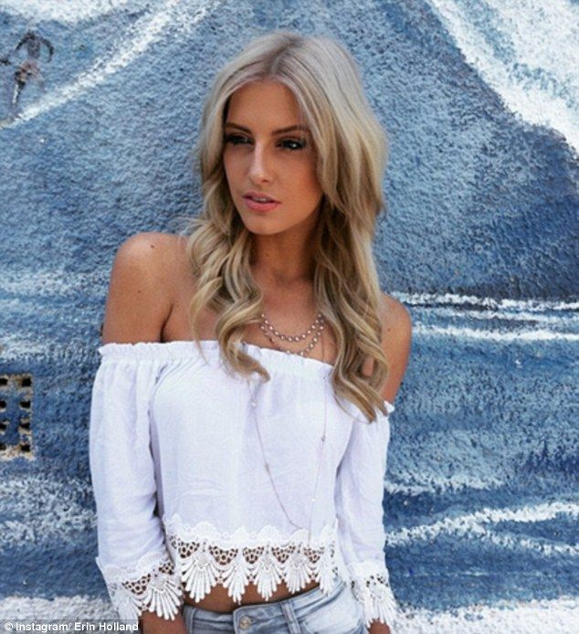White hot! On Tuesday Erin Holland opted for a more girlie getup in two gypsy inspired whi...