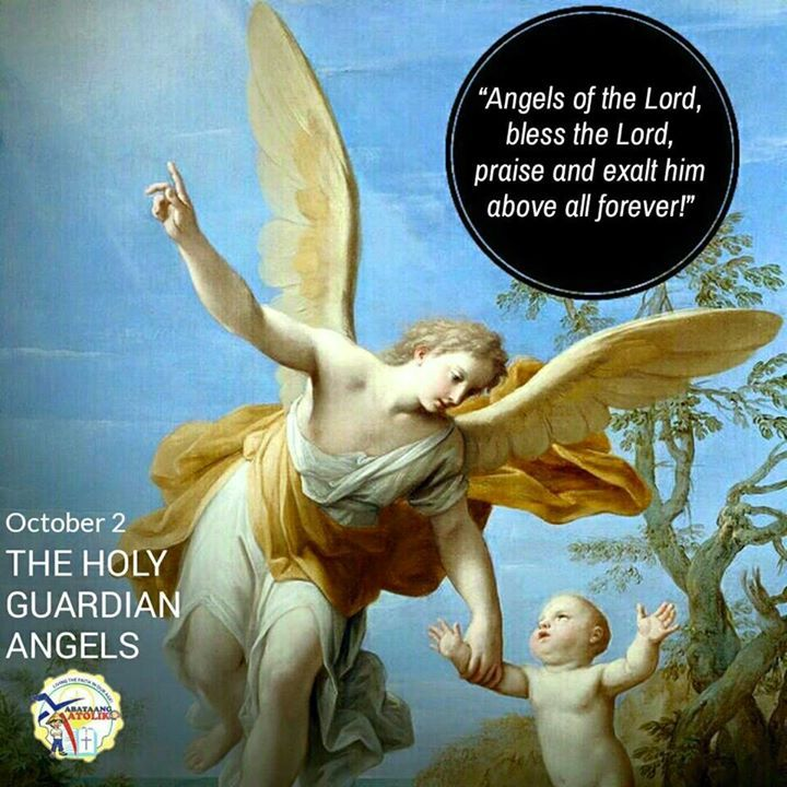 "October 2 Feast of the Holy Guardian Angels #kabataangkatoliko  ""For He will order His angels to protect you wherever you go.""  -Psalm 91:11  The truth that each and every human soul has a Guardian Angel who protects us from both spiritual and physical evil has been shown throughout the Old Testament and is made very clear in the New.   It is written that the Lord Jesus was strengthened by an angel in the Garden of Gethsemane and that an angel delivered St. Peter from prison in the Acts of…"