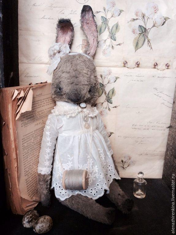 Купить Катушечка... - ретро, Алёна Жиренкина, плюш, мишка ретро, кролик, заяц, зайка