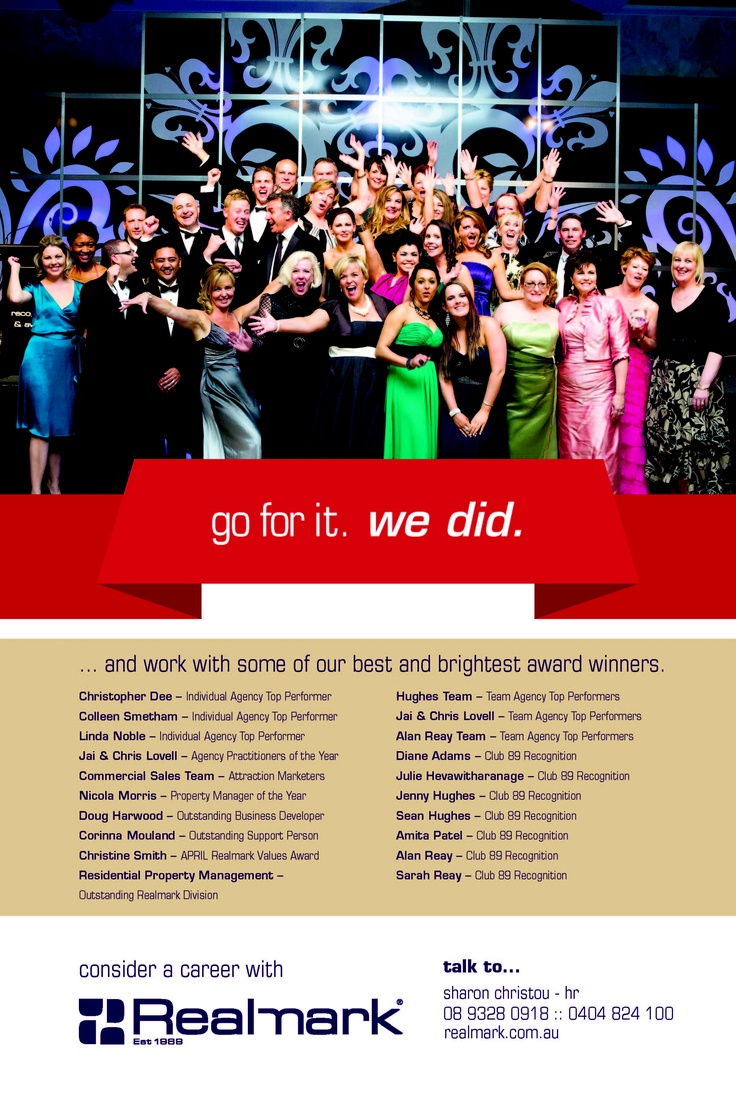 Realmark's 2012 Award Winners