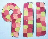 Fire safety: FREE rip and tear 911 craftivity. Ripping & tearing paper is great fine motor practice that helps strengthen finger muscles.