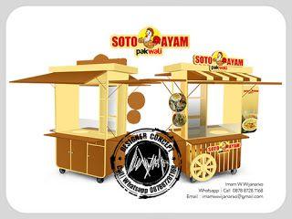 Desain Logo   Logo Kuliner    Desain Gerobak   Jasa Desain dan Produksi Gerobak   Branding: Desain Gerobak Soto Ayam Pa Wali