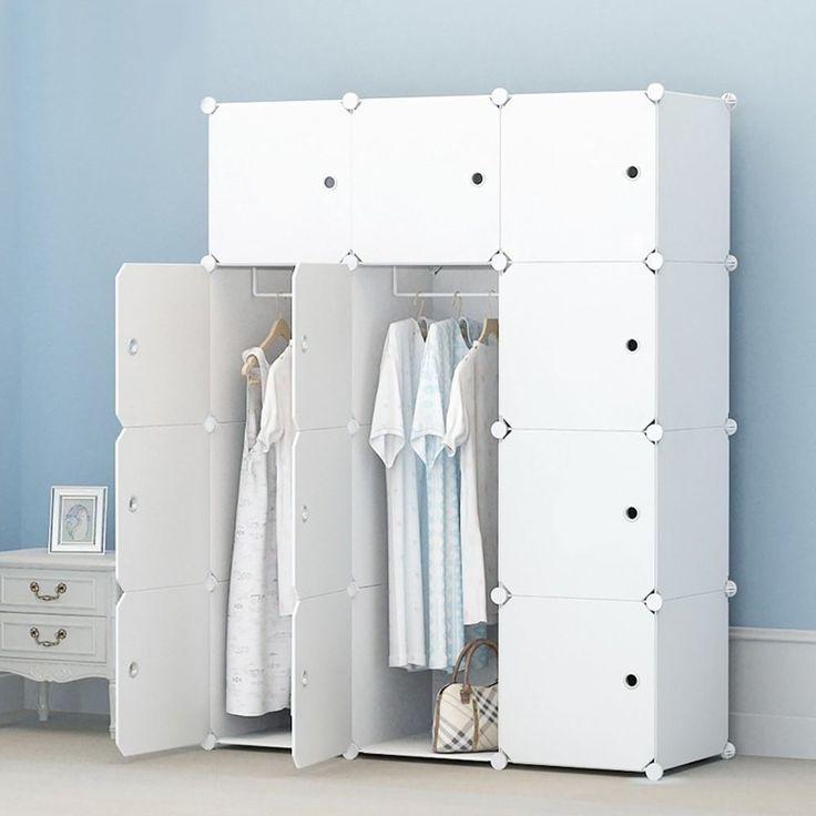 Portable Wardrobe Hanging Clothes Combination Armoire Modular Cabinet Closet  #MEGAFUTURE