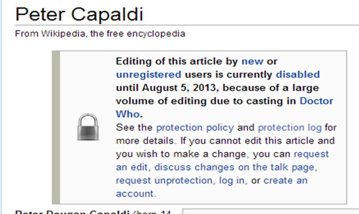 ...and so the Whovians broke Wikipedia