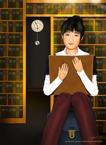 Création de personnages basée sur un visage existant  - Au Silence de la Lecture - Priscilla Chan - 陳慧嫻