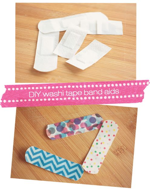 DIY #washitape band-aids to make anyone feel special