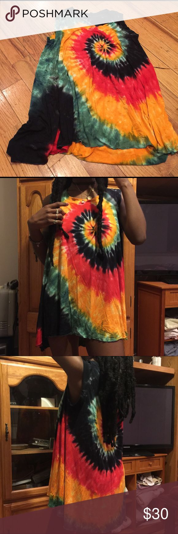 Rasta Shirt Can be worn as a dress. Only worn twice. Purchased from Dolls Kill. In great condition Tops