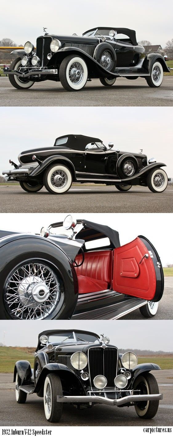 1932 Auburn V-12 Speedster. One of the line of cars they built back home in Indiana. Love these!