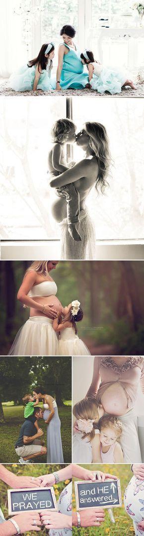 fotos inspiradoras para el embarazo con la familia e hijos pequeños