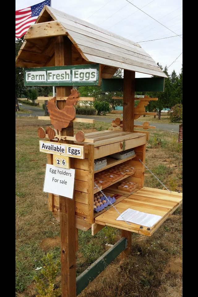 Cute egg stand to put by the road with an honor box to sell extra eggs.