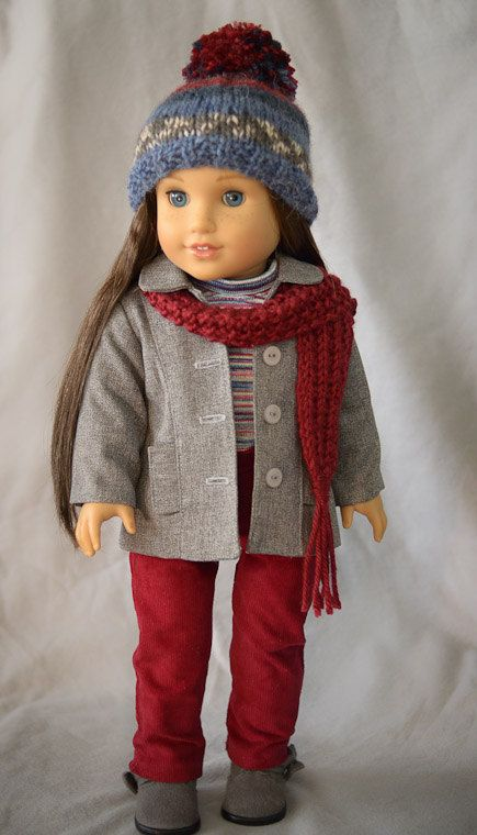 "Jacket, Hat, Scarf, Tee, Pants for 18""Doll"