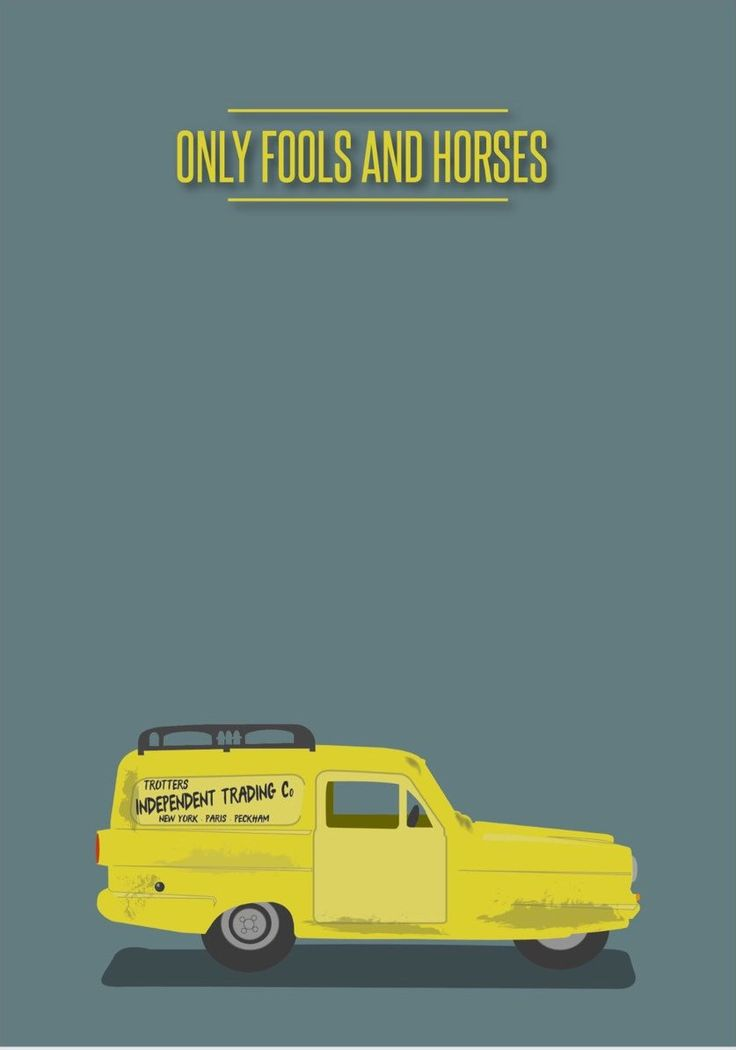 Only Fools and Horses (1981–2003) ~ Minimal TV Series Poster by David Peacock #amusementphile