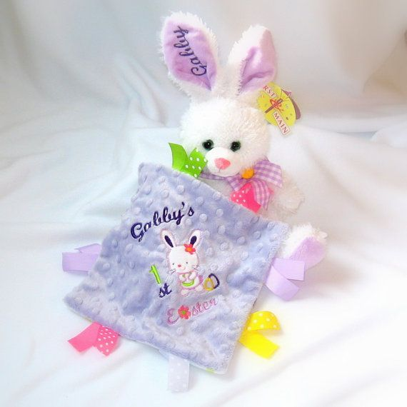 8 best plush toys gift sets images on pinterest gift sets plush personalized babys easter bunny andor crinkle toy my first easter gift minky crinkle toy with ribbons monogrammed plush bunny negle Choice Image