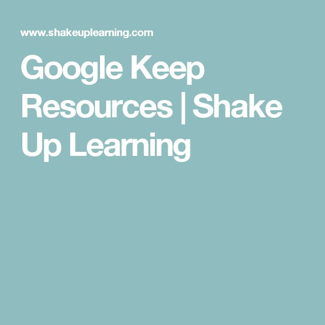Google Keep Resources