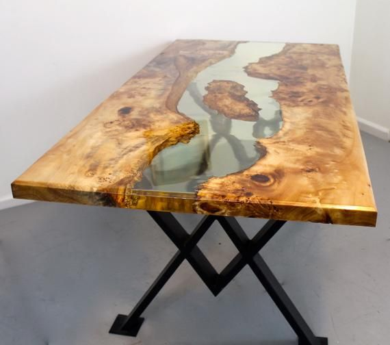 Resin River Dining Table Dining Table Resin Furniture Wood