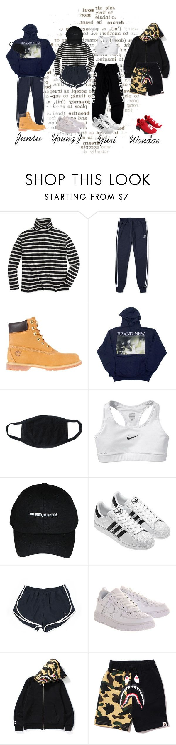 """""""Dance Practice"""" by kaen-official ❤ liked on Polyvore featuring J.Crew, adidas, Timberland and NIKE"""
