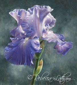 Rhapsody, approx. 6in x 6in, watercolor on board, ©Rebecca Latham
