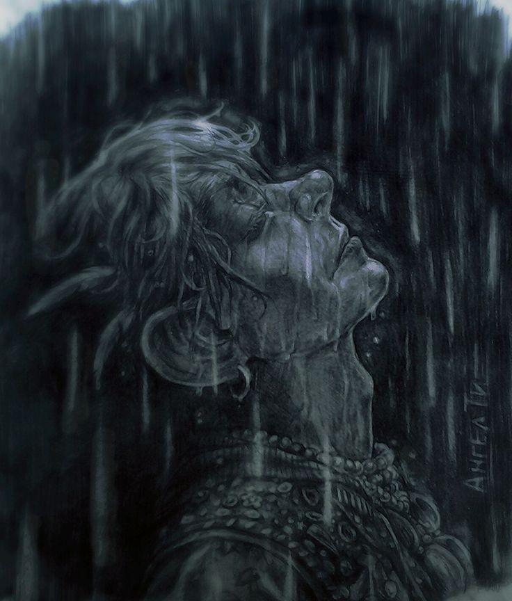 """""""Я вдруг замечаю,что плачу,и радуюсь,что идёт дождь.Уже настоящий.Запрокидываю голову,что бы промокнуть сильнее."""" by Ангел Ти"""