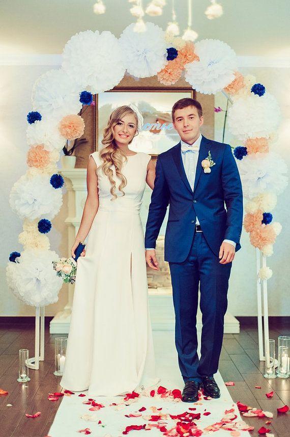 Long Wedding Dress Ivory Wedding Gown With door ApilatCreativeAtelie