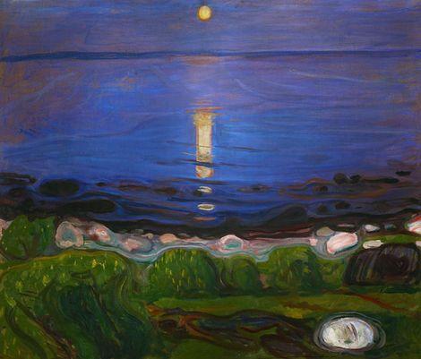 Edvard Munch, Summer Night at the Beach  on ArtStack #edvard-munch #art