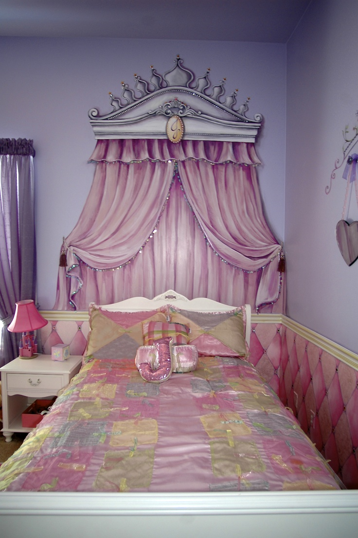 576 best murals images on pinterest plaster art wall murals and handpainted thrown and drapery built for a princess by carmen illustrates but you could never move the bed